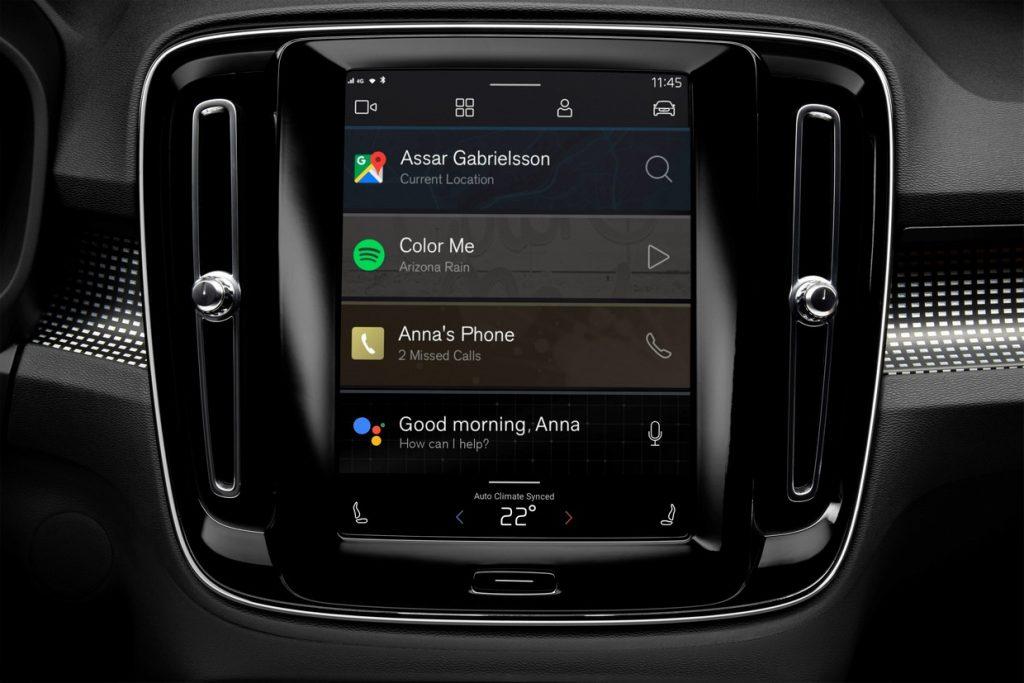 Volvo CX40 elektromos autó új infotainment rendszere